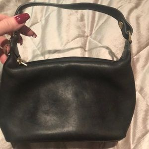 Vintage Coach Black Leather mini bag